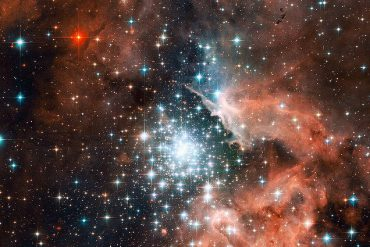 Image of a nebula of stars in space.
