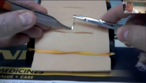First person point of view suturing