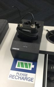 Photograph of wireless lapel microphone