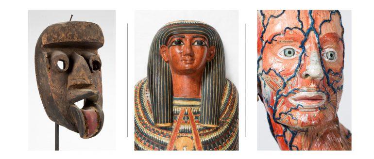 Wooden Mask, Wooden Coffin; Anatomical Model
